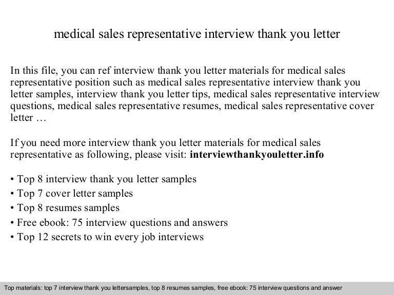 medical sales representative - Cover Letter For Medical Sales Representative