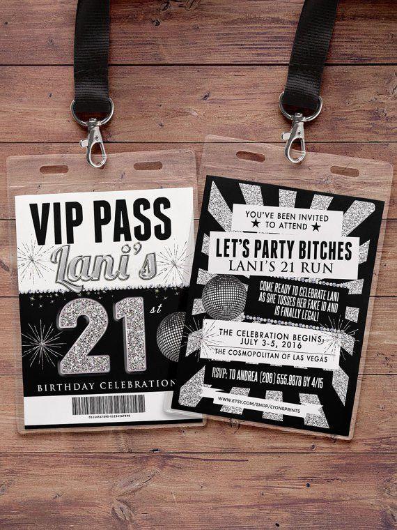 VIP PASS 21st birthday backstage pass concert ticket
