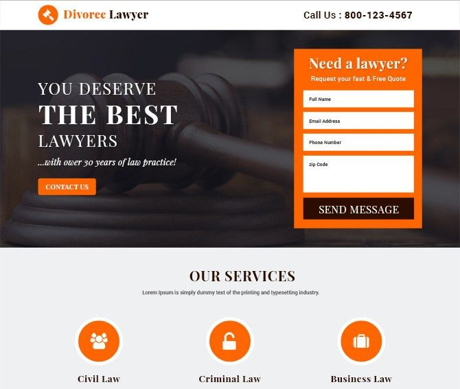 Best free landing page templates design by Buylandingpagesdesign ...