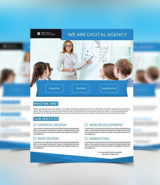 Free Flyer Templates One Page Brochure Simple Templat Examples For ...