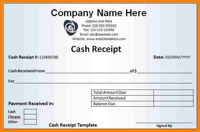 5+ sample receipts template | hr cover letter