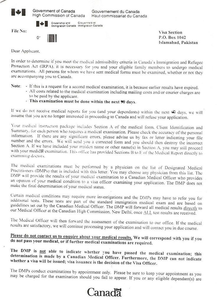 CHC Letters - Spouse Sponsorship to Canada from Islamabad Pakistan ...