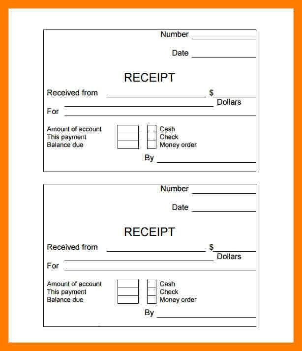 3+ simple cash receipt template | teller resume