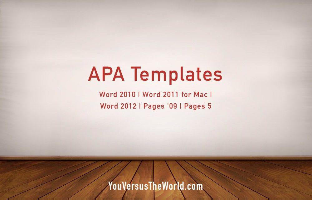 apa template word 2013