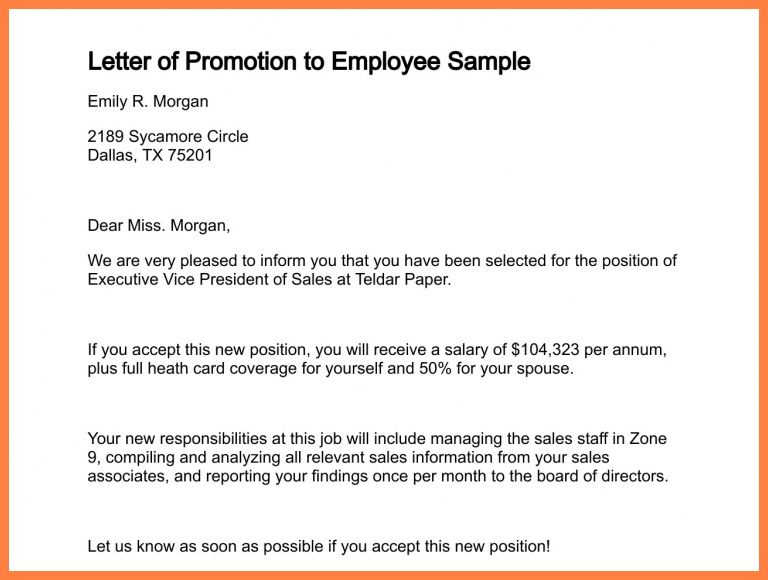 5+ recommendation letter for promotion to management | Life ...