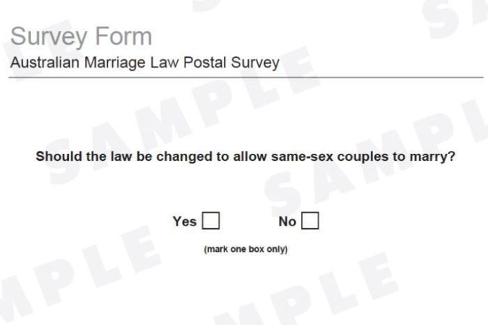 SSM: ABS releases same-sex marriage postal survey form - ABC News ...