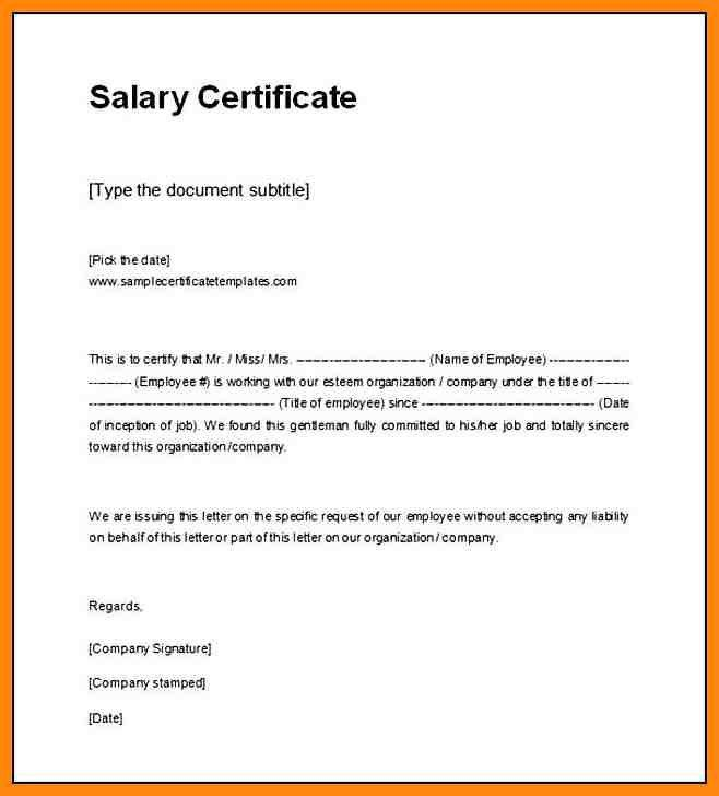 10+ salary certificate format in word | nurse resumed