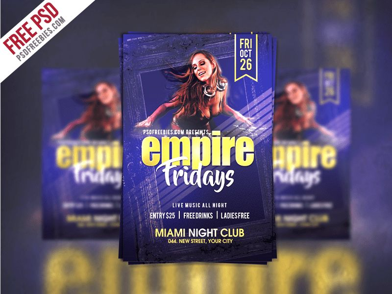 Friday Party Flyer Template Free PSD | PSDFreebies.com