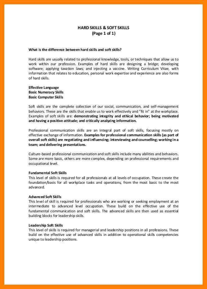 Curriculum Vitae Soft Skills - Contegri.com