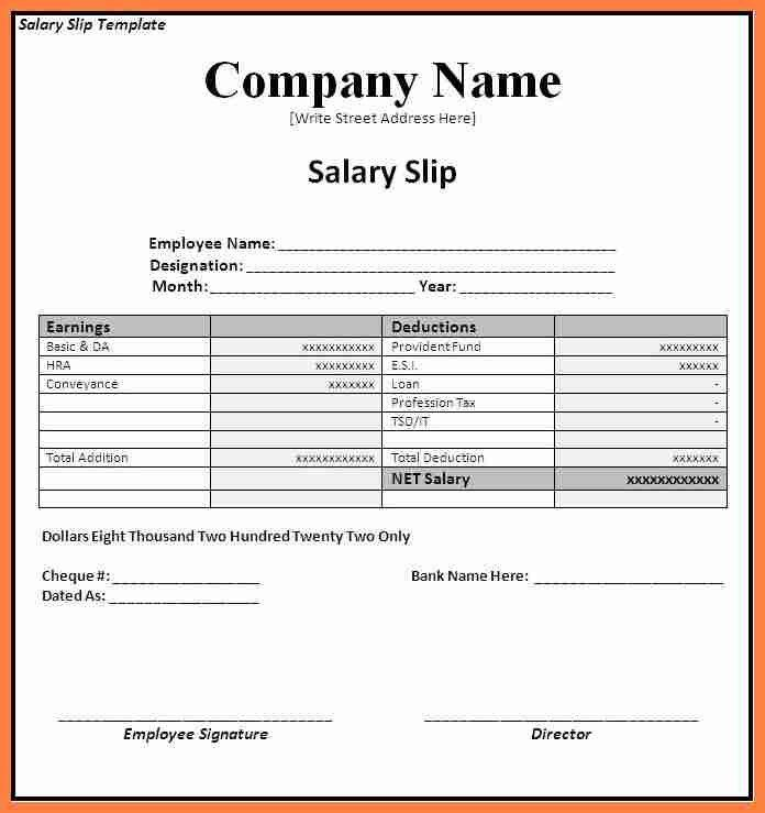Payment Slip Sample 61 [Template.billybullock.us ]