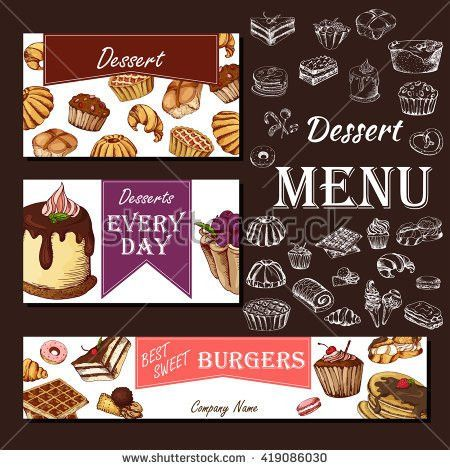 Menu Template Cafe Bakery Bakery Branding Stock Vector 478299373 ...