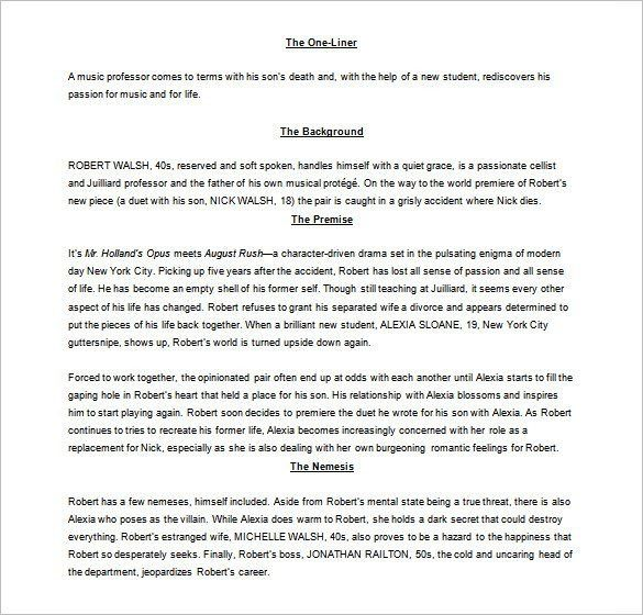 Screenplay Outline Template – 8+ Free Word, Excel, PDF Format ...