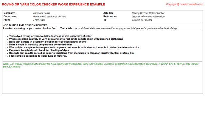 Stock Clerk Cashier Or Checker CV Work Experience Samples