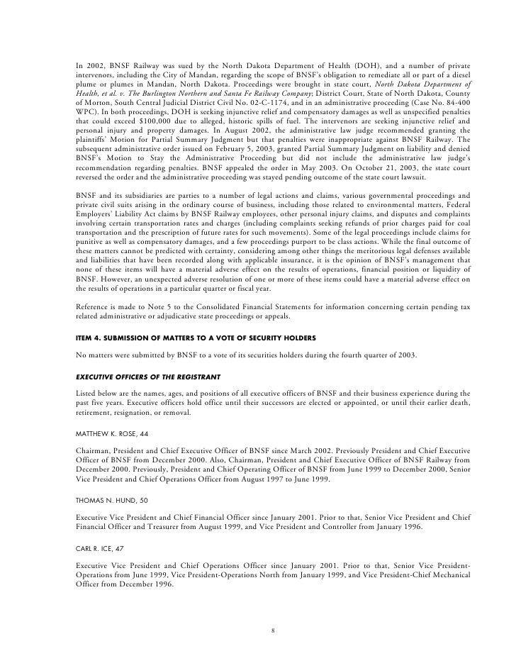 BNSF 2003 annrpt