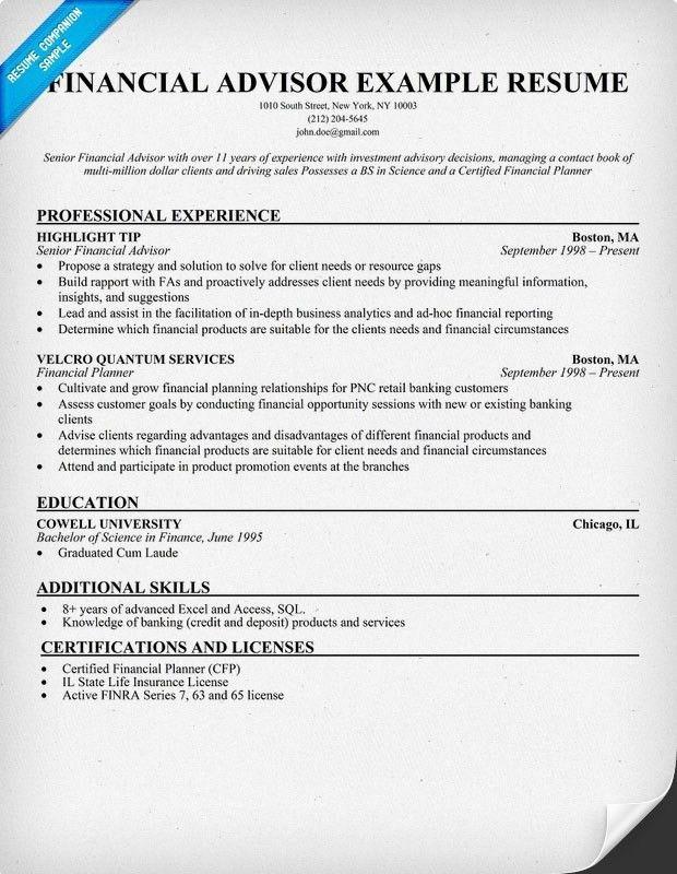 financial analyst student. job resume financial advisor resume ...