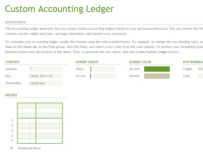 How To Create Accounting ledger Sheets Template in Excel | Excel ...