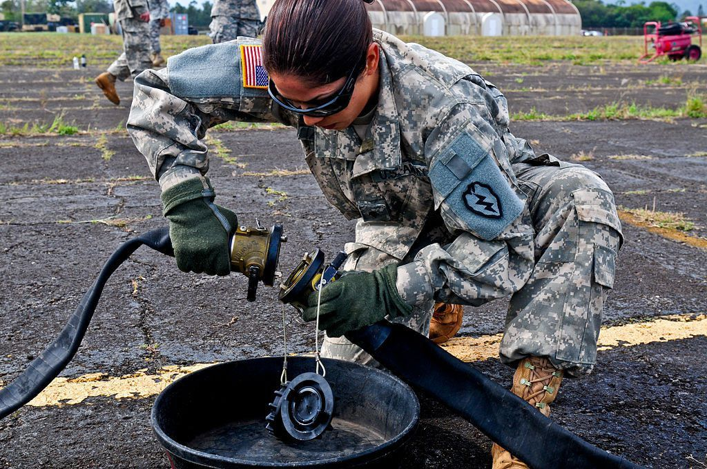 File:U.S. Army Spc. Karina Anaya, a petroleum supply specialist ...