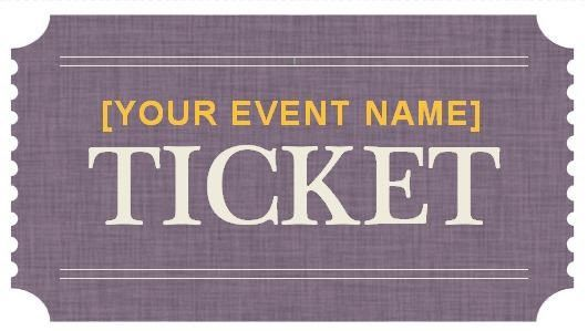 Prom Ticket Template | Best Template Examples