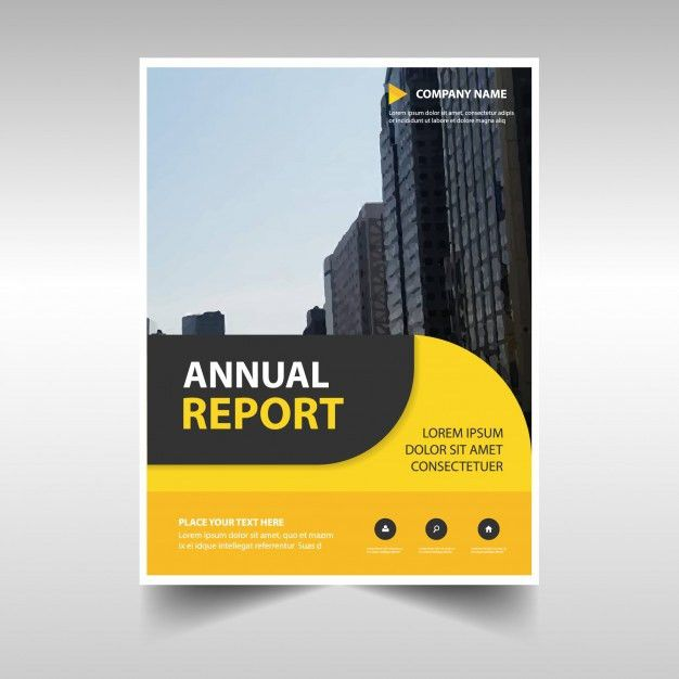 Rounded yellow abstract corporate annual report template Vector ...