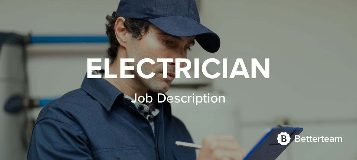 electrician job description. the main responsibility of a ...