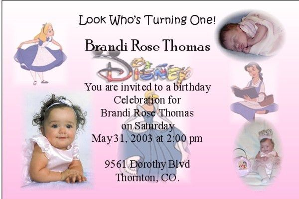 Birthday Invitation with little princess background
