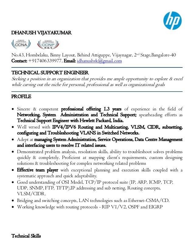 technical support resume unforgettable technical support resume