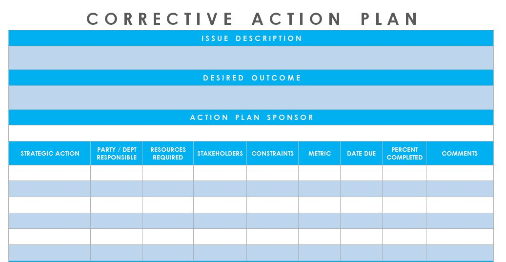 Get Corrective Action Plan Template Excel – Microsoft Excel ...
