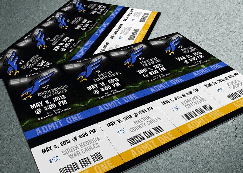 Season Ticket Sheet (4 Tickets) - Ticket Printing: Admission Tickets