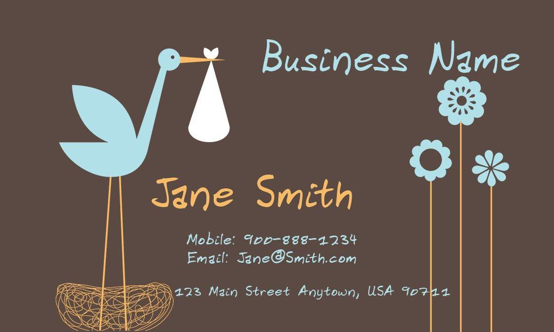 Babysitter Business Card - Design #1101061