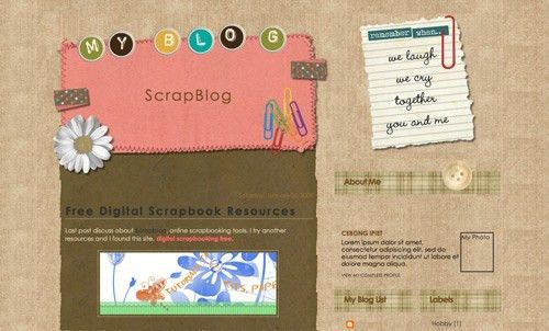 40 Free Beautiful Blogger Templates, Part III - Hongkiat