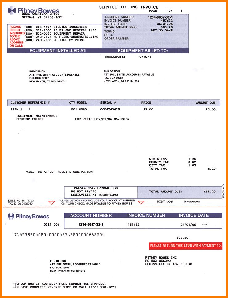7+ Sample Invoice For Services | Receipt Templates