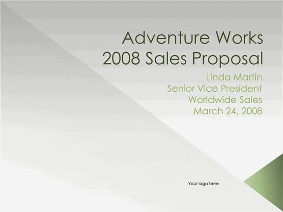 Sales Proposal Presentation Powerpoint Templates