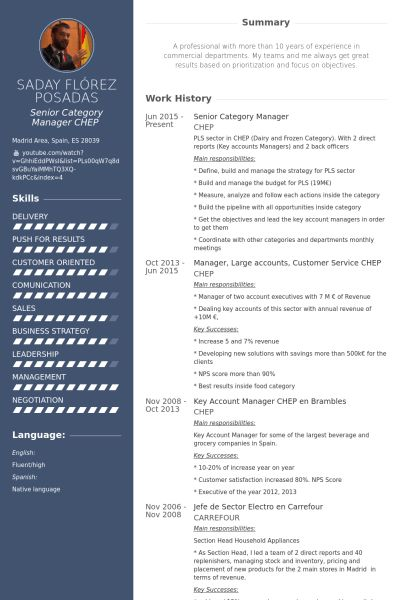 Category Manager Resume samples - VisualCV resume samples database