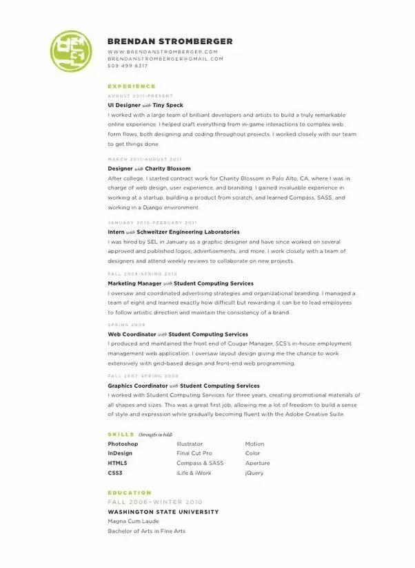 motion graphics designer resume graphics specialist sample