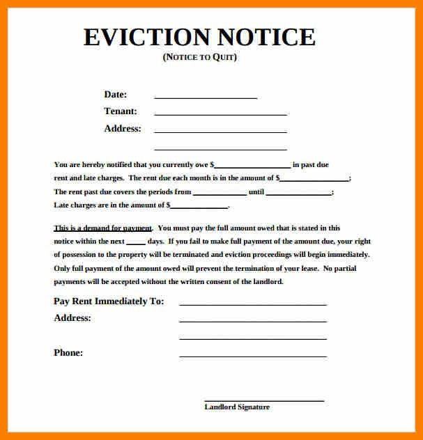 9+ samples of eviction notices | science-resume