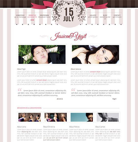 15 best 15 of the Best Free & Premium Wedding Website Templates ...