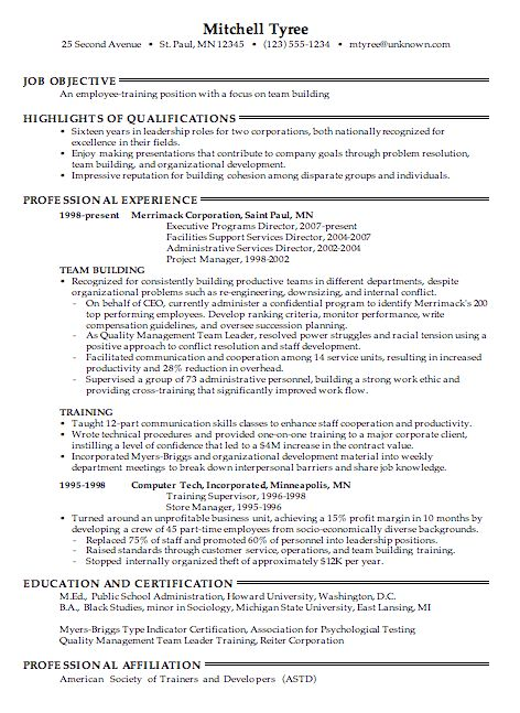 trainer sample resume unforgettable personal trainer resume
