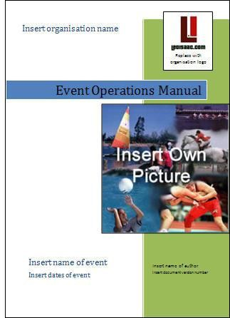 Event Management Guide - Create your own event operations manual
