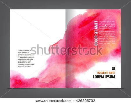 Vector Empty Trifold Brochure Template Print Stock Vector ...