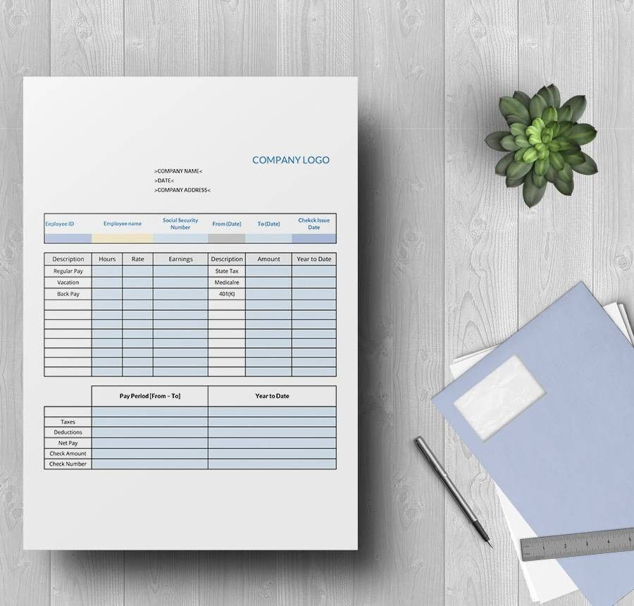 15+ Free Pay Stub Templates - Corporate, Employee, Company ...