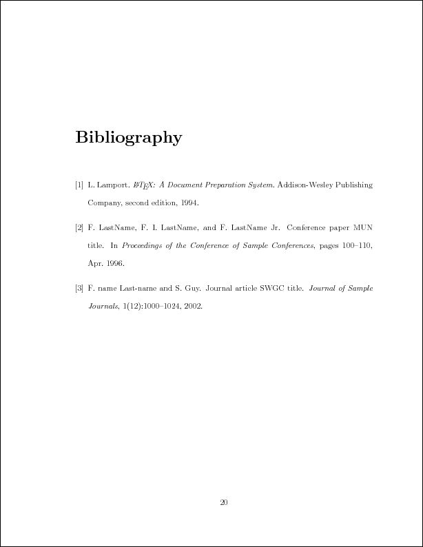 Sample LaTeX Thesis Template