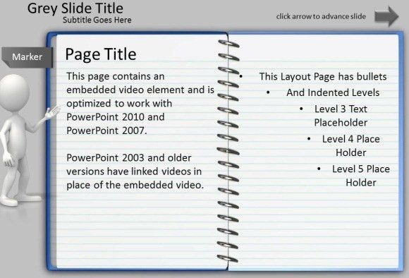 Animated Notepad Page Turn Effect For PowerPoint Presentations