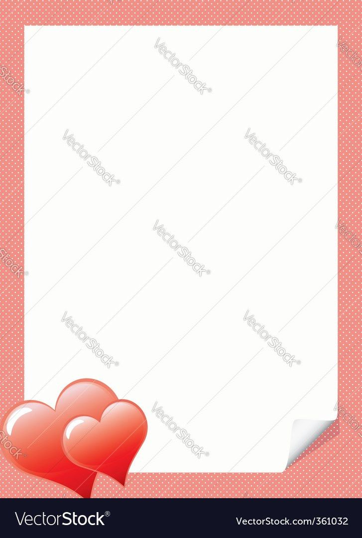 Love letter template with hear Royalty Free Vector Image
