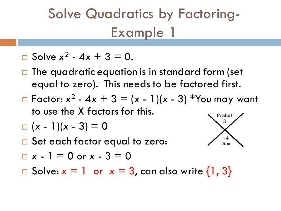 ALGEBRA 2: MODULE 4 LESSON 1 Solving Quadratic Equations by ...