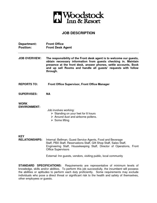 Front Desk Resume Sample | berathen.Com