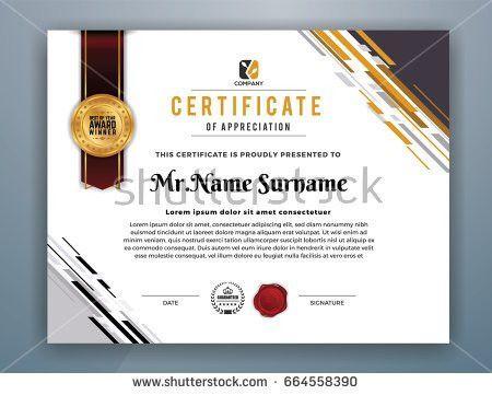 Multipurpose Modern Professional Certificate Template Design Stock ...