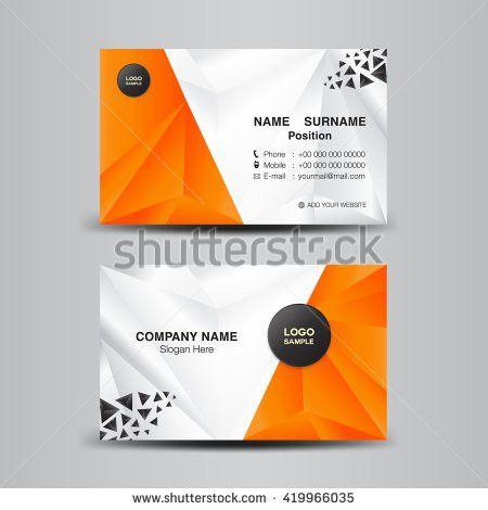 Vector Modern Creative Clean Business Card Stock Vector 419949163 ...