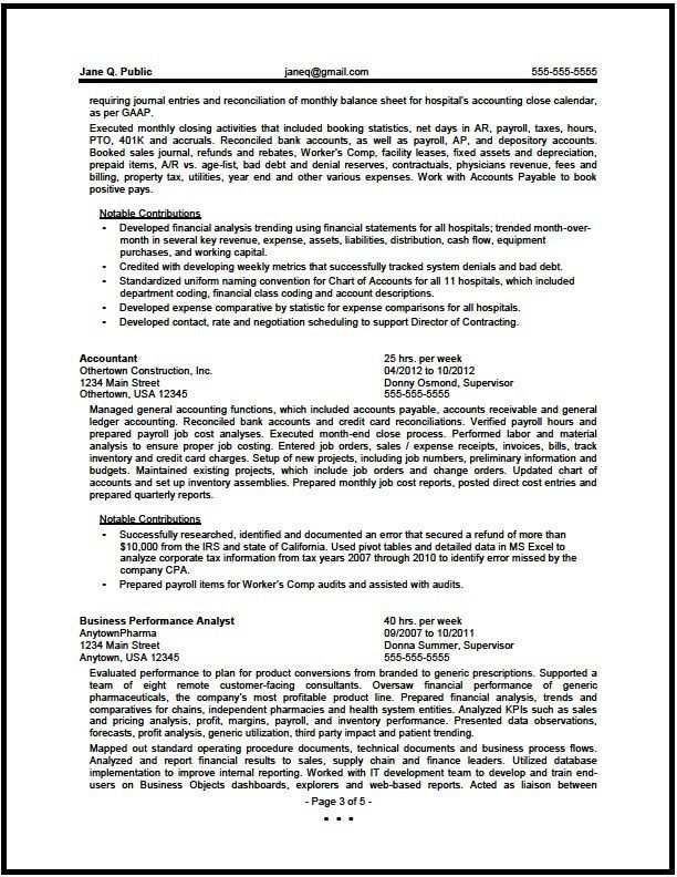 Federal Financial Analyst Resume Sample - The Resume Clinic