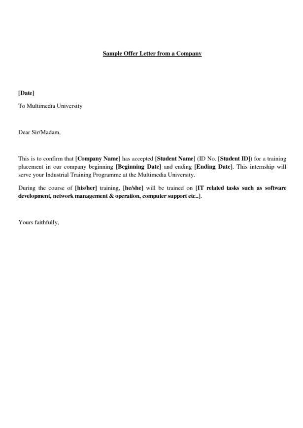 offer acceptance email letter. 2 internship offer letter. siemens ...