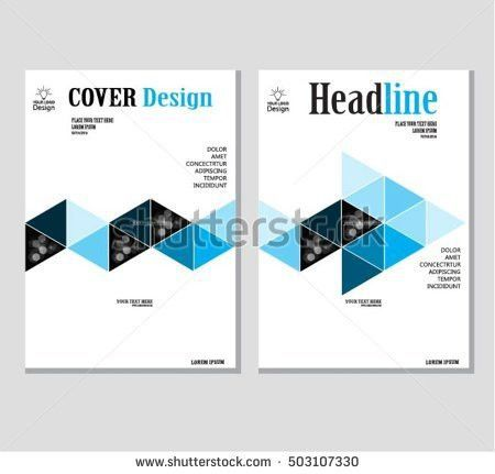 Annual Business Report Cover Template Booklet Stock Vector ...